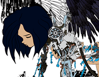 Battle Angel skate deck