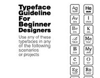 Typeface Guideline For Beginner Users (an Infograph)