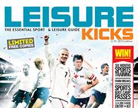 Leisure Kicks Magazine Cover + Illustrations 2013