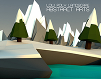 Low Poly Landscape - Abstract Arts