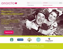 amorcito corazón (concepto pagina web)