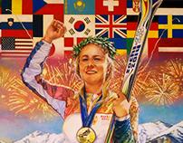 2014 Sochi winter Olympics illustration