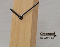 Bamboo table clock