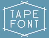 tape font