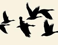 Geese-swans.  Russian folk tale.