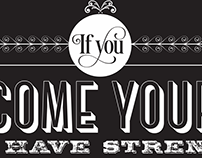 If You... Typographic quote poster