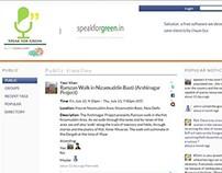 Social network website for environment