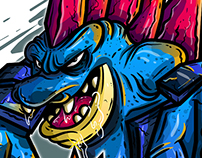 TOTODILE FAN-ART