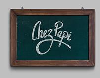 Chez Papi - Logo - Hand made lettering