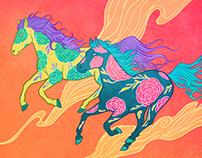 Lucha Libre Horses
