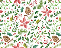 Christmas Foliage Pattern