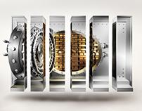 SAXO Bank (3D illustration)