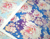 watercolor peony patterns