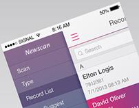 Newscan iPhone UI
