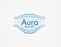 "Logotype ""Aura"". Medical mask disposable."
