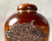 Cherry urns with bronze