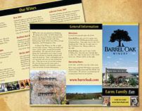 Brochure for Barrel Oak Winery