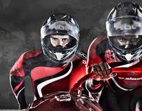 The Great British Bobsleigh Team photoshoot
