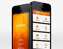 iimjobs - iPhone Application Ui