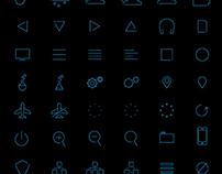 Skinny UI icons