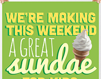 McDonald's Free Sundae Weekend Poster Series