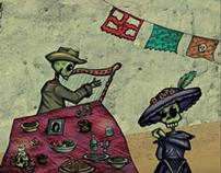 Ilustración día de muertos