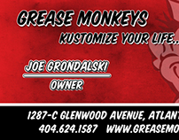 Grease Monkeys - Marketing Collateral