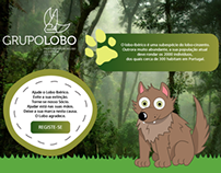 Landing Page for Wolf Foundation