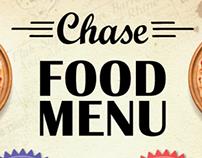 Chase Bar Sunderland - Food Menu