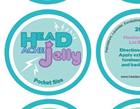 Head Ache Jelly logo and packaging