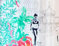 Zizzi Mural / Brighton