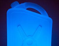 Plastic can floor lamp