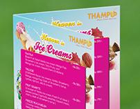 Thampu - Menu Card, Tent Card
