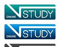 V Study Online Logo Design