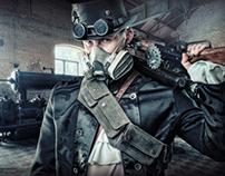 Steampunk - studio + HDR background