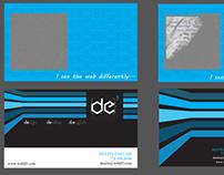 DE3 Business Card: Dustin English, Design, Develop.