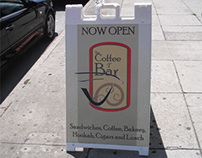 The Coffee T Bar Sandwich Board