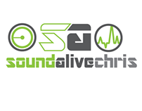 Sound Alive Chris - DJ Logo Design