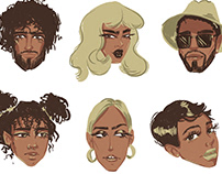 Illustrations characters