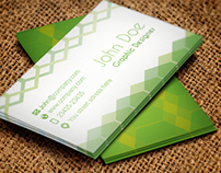 Business Card Design Green