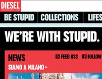 Diesel We're with Stupid website