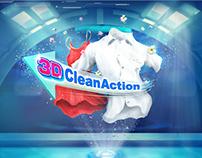 3D Clean Action