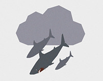 SHARKNADO minimal movie poster