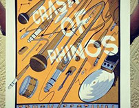 CRASH OF RHINOS - 2013 Gig Poster