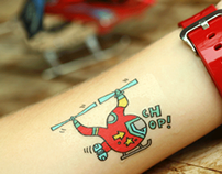 Choppers and Planes Designer Temporary Tattoos - Gumtoo