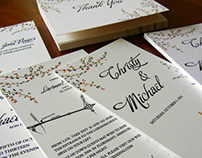 Porges/Fishel Wedding Invitation