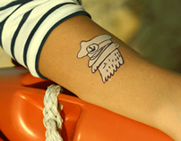Nautical Designer Temporary Tattoos - Gumtoo