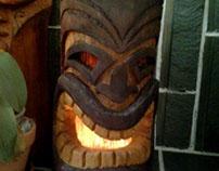 Tiki head lantern