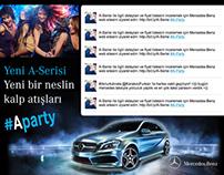 Mercedes-Benz Tweet Wall Design