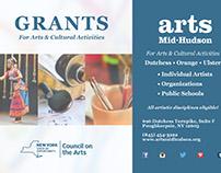 "Print Design: ""Arts Mid-Hudson Grant Card"""